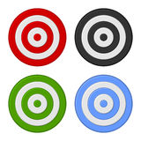 Shooting Target Icon Set Isolated on White Background. Vector Stock Photos
