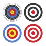 Shooting Target Icon Set on White Background. Vector Stock Images
