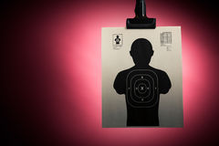 Shooting target on a red background Royalty Free Stock Photos