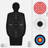 Shooting target set. Royalty Free Stock Images