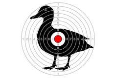 Shooting target vector goose Stock Photos
