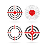 Shooting target vector icon Royalty Free Stock Images