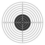 Shooting target vector icon. Vector illustration of shooting target isolated on white background. Target icon clip art. Shooting range mark vector sign Stock Photos