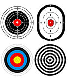 Shooting target. Vector illustration background Royalty Free Stock Photos