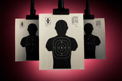 Shooting targets on a red background Royalty Free Stock Photography