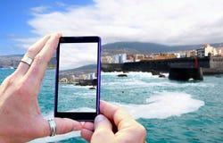Shooting Tenerife coast Royalty Free Stock Photo