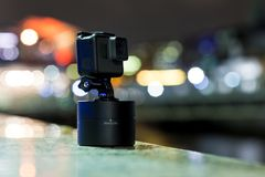 Shooting timelapse on action camera in London. UK Royalty Free Stock Photos