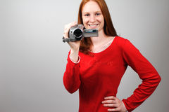 Shooting Video Stock Photo