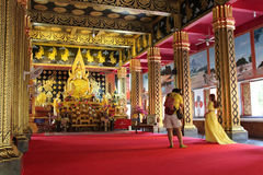Shooting... (Wat Phan On - Chiang Mai - Thaïlande) Royalty Free Stock Photo