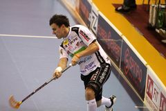Shooting Zdenek Zak - floorball player Stock Photo