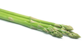 Shoots of green asparagus, paths Stock Photo
