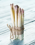 Shoots of white asparagus. Royalty Free Stock Image
