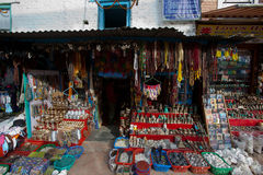 Shop. Patrick Square, in addition to ancient Nepal palace building, there are many shops selling handicrafts Royalty Free Stock Images