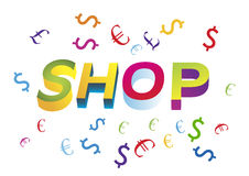 Shop. Spending money in store Royalty Free Stock Images