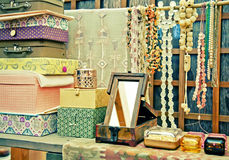 Shop with accessory. Country shop with stylish accessories Stock Photo