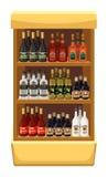 Shop alcoholic beverages. Stock Photo