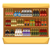 Shop alcoholic beverages. Royalty Free Stock Image