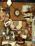Shop for antiques. Typical antique shop in Spain Royalty Free Stock Photos