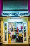 Shop the Apparel at ocean drive is open in the night Stock Photo