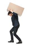 Shop assistant carries the parcel royalty free stock photos