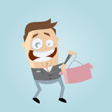 Shop assistant selling shirt Stock Image