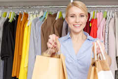 Shop assistant in a store Stock Photography