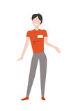 Shop Assistant Woman Character Vector Illustration Stock Photo