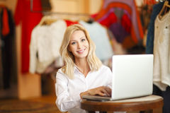 Shop assistant woman Royalty Free Stock Image