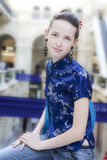 Shop assistent in shoping center Royalty Free Stock Image