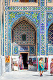 Shop in the atrium of Samarkand Registan, Uzbekistan Stock Image