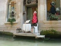 Shop auf dem Kanal Lizenzfreies Stockbild