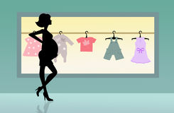 Shop for baby clothes. Illustration of shop for baby clothes Stock Photography