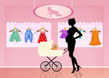 Shop for baby clothes Royalty Free Stock Image