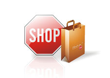 Shop bag Royalty Free Stock Photo