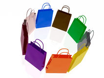 Shop bags Royalty Free Stock Images