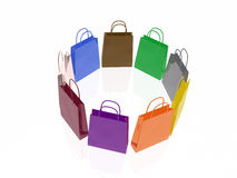 Shop bags Royalty Free Stock Photos
