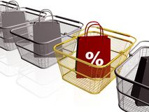 Shop bags and baskets Royalty Free Stock Image