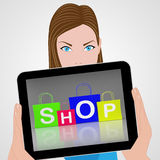 Shop Bags Displays Retail Shopping and Buying Royalty Free Stock Image