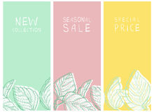 Shop banners. Shopping sale and new arrival banners or tags set Royalty Free Stock Photo