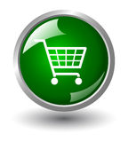 Shop basket button Royalty Free Stock Photography