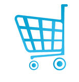 Shop basket icon. Isolated on white Royalty Free Stock Image