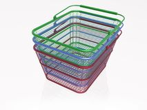 Shop baskets Royalty Free Stock Photo