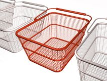 Shop baskets Stock Photo