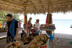 Shop on the beach at the Catalina island Royalty Free Stock Image
