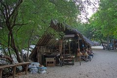 Shop on the beach at Gili Meno in Indonesia Stock Image