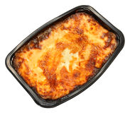 Shop Bought Beef Lasagne Royalty Free Stock Image