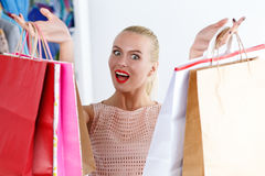 Shop and boutique visiting concept Royalty Free Stock Photo