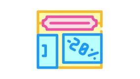 shop building color icon animation