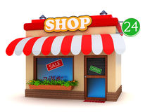 Shop building Royalty Free Stock Photo