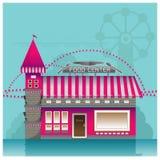 Shop building  vector  food  store  interior table windo Royalty Free Stock Photo